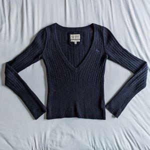 Abercrombie & Fitch - 100% Cashmere Navy Sweater